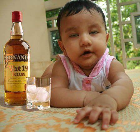 Gambar Lucu Bayi Mabok
