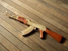 Senjata AK-47 Berlapis Emas (Gold Plated)