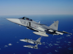 JAS Gripen Pesawat Tempur buatan Volvo, SAAB, Ericsson