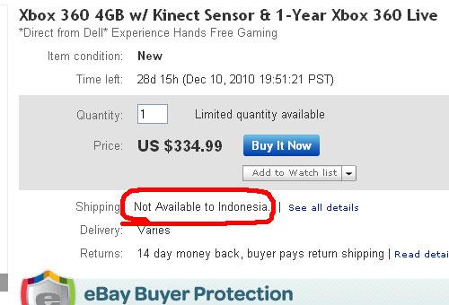 pastikan penjual mengirim ke Indonesia juga..