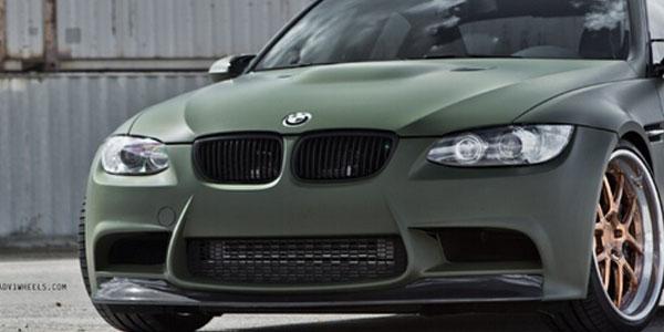 Matte Military Green Car