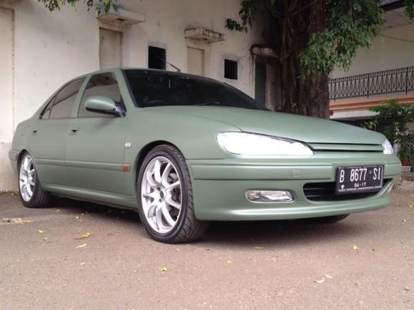 peugeot-406-matte-green