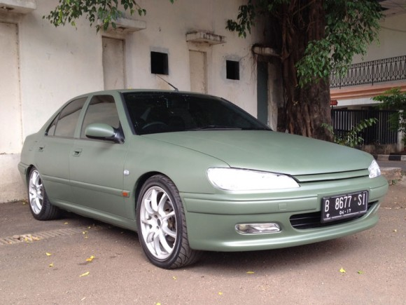 peugeot-406-matte-military-green