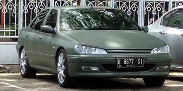 peugeot 406 matte green