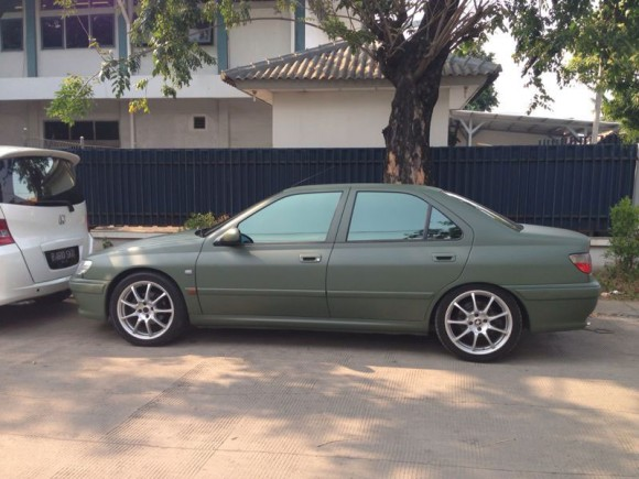 peugeot 406 matte military green
