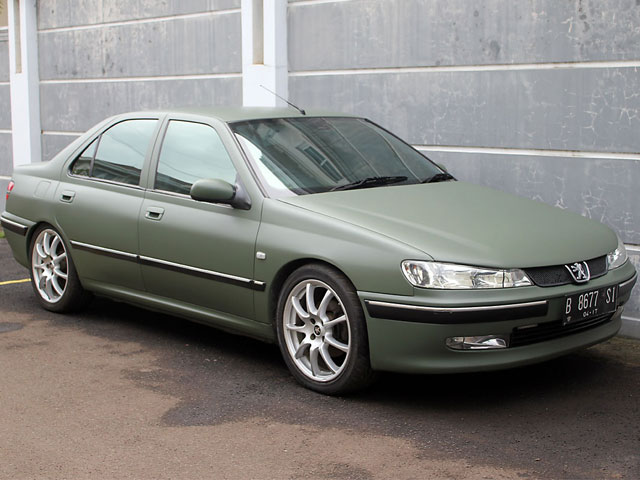 peugeot 406 tuning army green