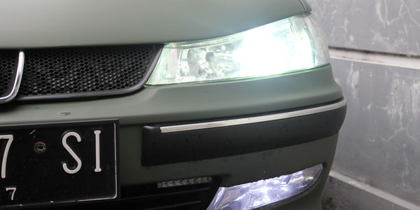 Peugeot 406 HID headlight and CREE fog lamp